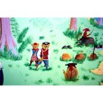 Pirate Teddy Bear mural painting artwork