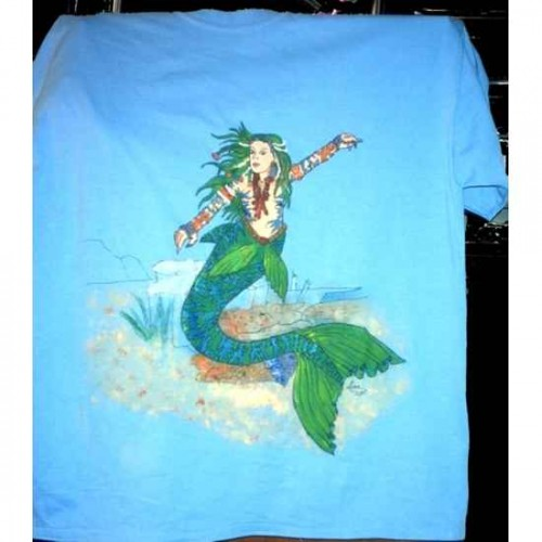 Mermaid tshirt painting artwork