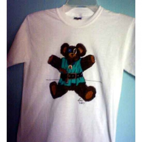Pirate Teddy Bear tshirt painting artwork