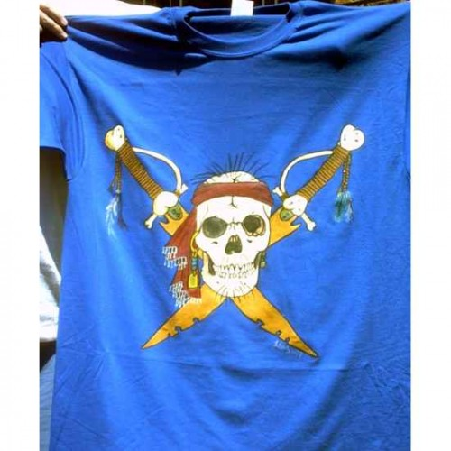 Pirate Skull tshirt painting artwork