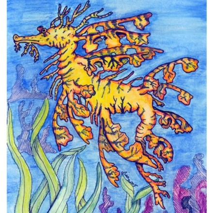 Leafy Sea Dragon painting artwork