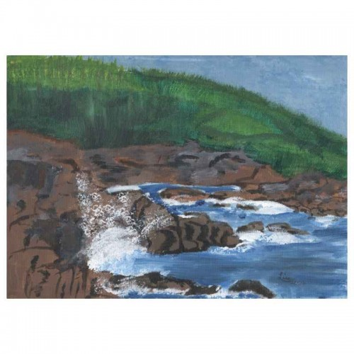 PEI shoreline painting artwork