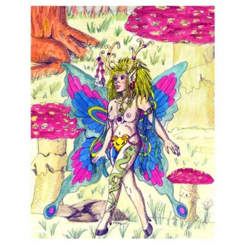 Butterfly Fairy painting artwork