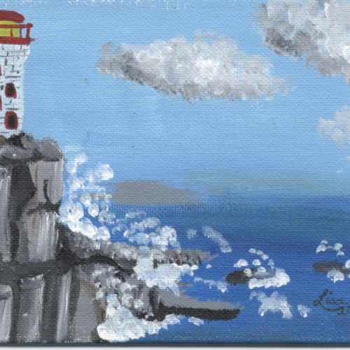 PEI Lighthouse painting artwork