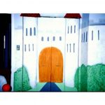 Castle gate painting artwork mural